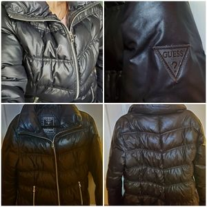 Warm down feather puffer jacket